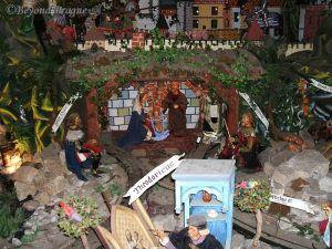 Detail of a large mechanized nativity scene