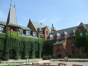 Courtyard of the Red Chateau.