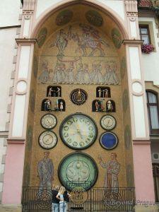 Socialist-Realism clock in Olomouc