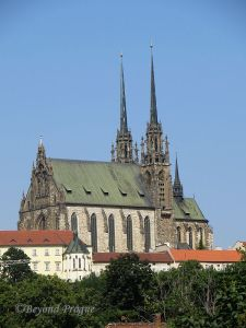 View of cathedral from behind the hockey arena.