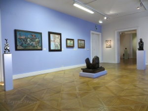 The surrealism section of the gallery's modern art exhibition.