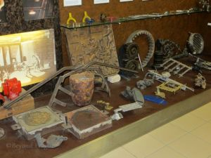 A section of items related to casting in the metalurgy display.