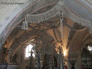 Interior view of ossuary