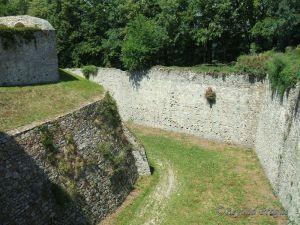 Detail of castle moat