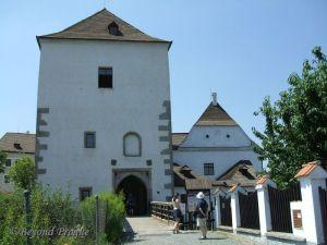 Main entrance to Nové Hrady castle