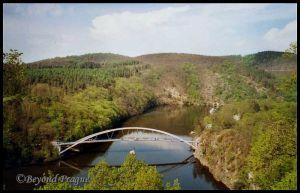 Foot bridge and landscape near Veveří Castle