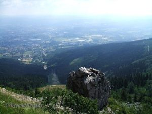 The view to Liberec from Ještěd