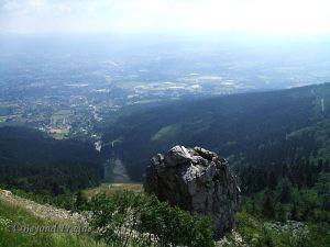 The view to Liberec from Ještěd