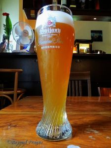 Wheat beer, a category of beer that seems to be enjoying increasing popularity in Czech pubs.