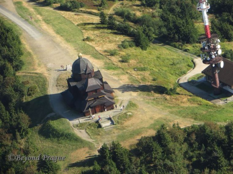 The Chapel of St. Cyril and Methodius on Radhošť mountian. The chapel is an example of typical Wallachian folk architecture.