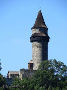 The tower of Štramberk Castle.