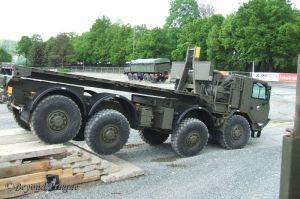 Modern Tatra 8x8 heavy transporters going through their paces.