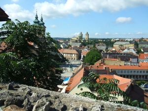 Looking across the city centre from Eger  Castle.