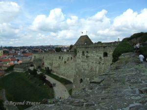 A view along Eger Castle wall.