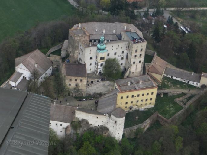 Winging it over Buchlov Castle
