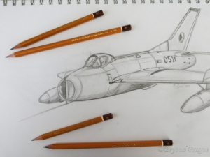 A bit of sketching done at the Brno technical Museum and the 1500 series pencils used for it.