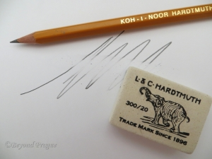 The elephant trademark has appeared on Koh-I-Noor Hardtmuth erasers since 1896.