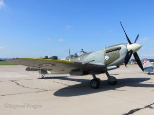 The legendary Spitfire fighter, flown by many Czechoslovak pilots in WWII.