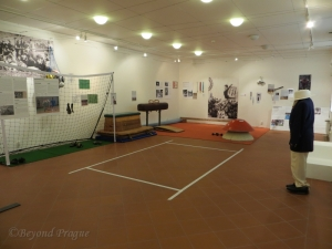 A display dedicated to Roma in sport in the temporary exhibition hall.