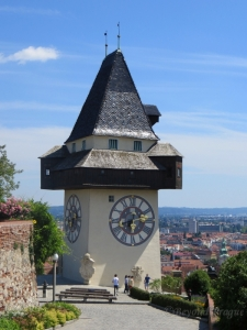 The clock tower on Schlossberg Hill