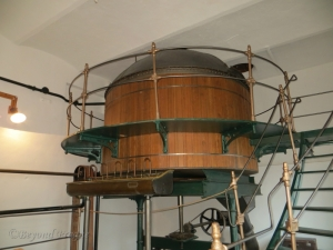 One of the large tanks on display in the museum section.