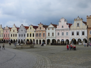 A small sample of the many preserved facades which line the main square.