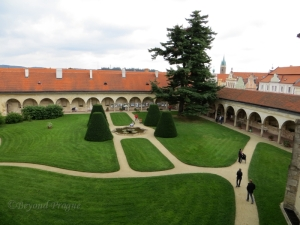 A view of the chateau gardens