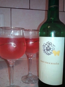 Unofficial St. Martin's wine at home. This was from my girlfriend's uncle's cellar and was very good indeed.-Photo: J. Barančicová