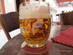 Crystal clear and refreshing Czech beer. I raise my glass to you, Mr. Poupě!