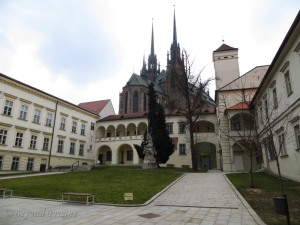 Bishop's Courtyard complex with the city cathedral in the background.