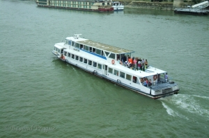 One of the many river boats that ply the Danube.