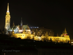St. Matthias Church and Fisherman's Bastion by night.