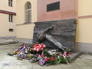 Wreaths laid at the Monument to the Victory Over Fascism in Brno.