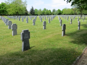 Numerous graves of German soldiers given their own place at the cemetery.