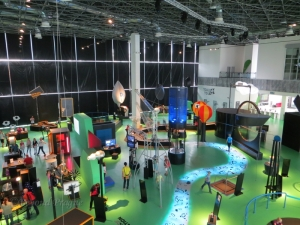 A view into the Earth and Civilization sections of the science centre.