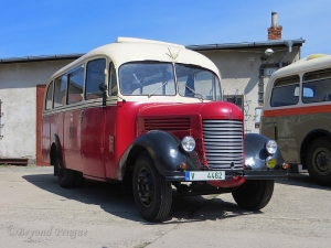 A bus based on the model RND truck. The RND was a signature product for Praga through the 1930s to the early 1950s.