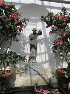 A fountain in the chateau greenhouse.